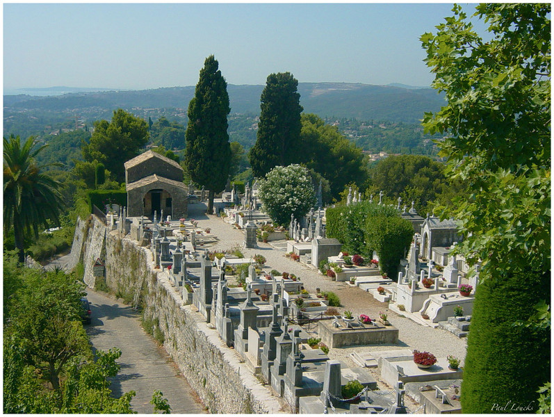 An old cemetery in the perched village of Vence