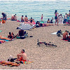 Sun-worshippers on the public beaches of Nice