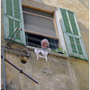 Woman in San Remo with a watchful eye