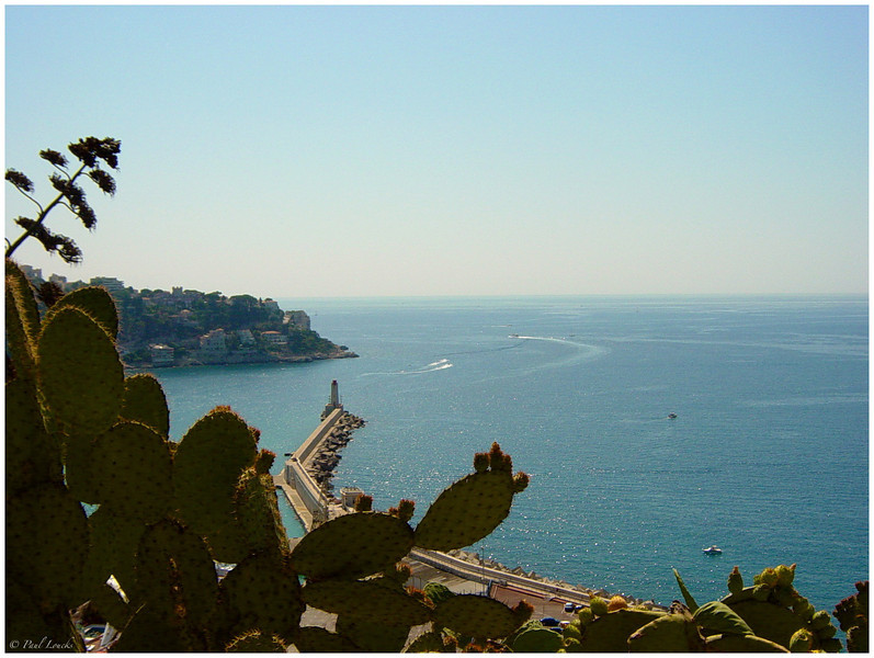 View from Parc Mt. Boron in Nice. Nice Harbor is on the left.