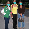 The Swine Flu was really taking hold of Mexico City by dinner time as we went to three Argentinian restaurants before we found one open--and it closed while we were there. These young women posed for a photographer on the street. We flew home the next day. April, 2009.
