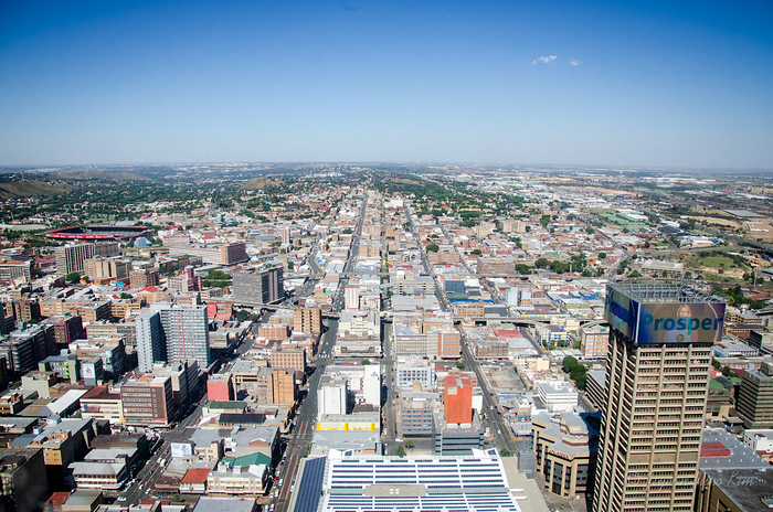 It seems flat, but Johannesburg is higher than Denver, the Mile-High City