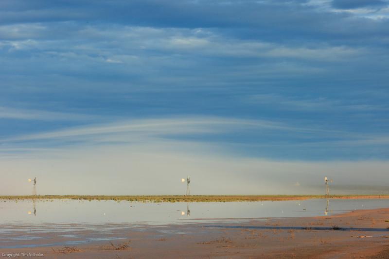 Karoo : Kaalpan Salt Pan Salt Water Windmills