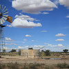 Kgalagadi Transfrontier Park: Windmill with gemsbok