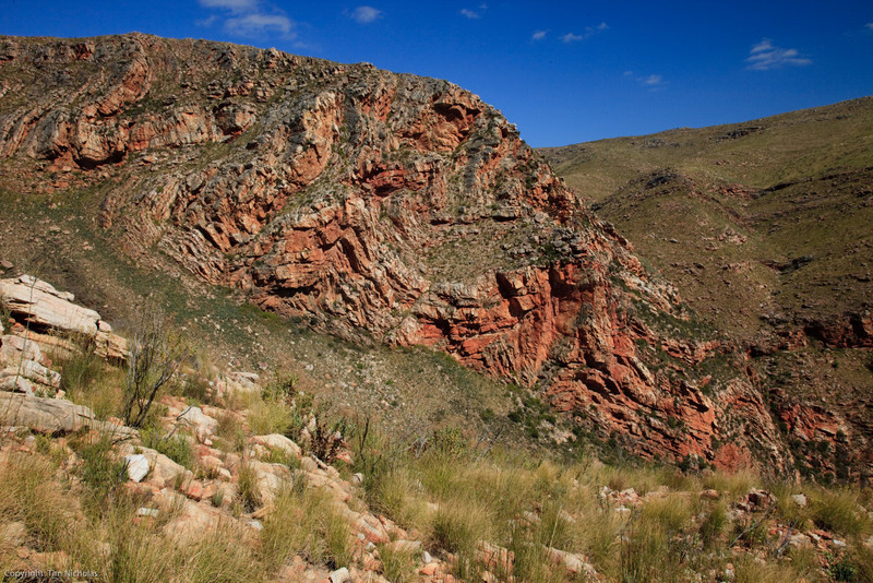 Swartberg Pass: twisted and tortured rock formations