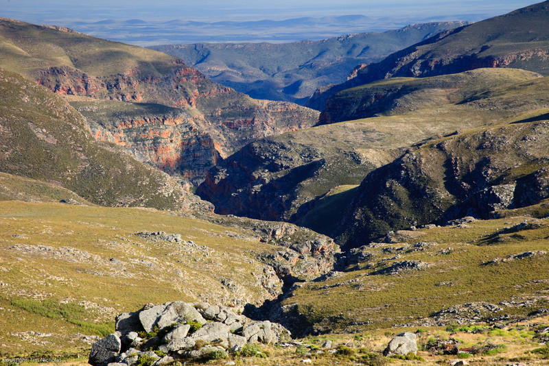 Deep gorges of the northern side of the Swartberg pass