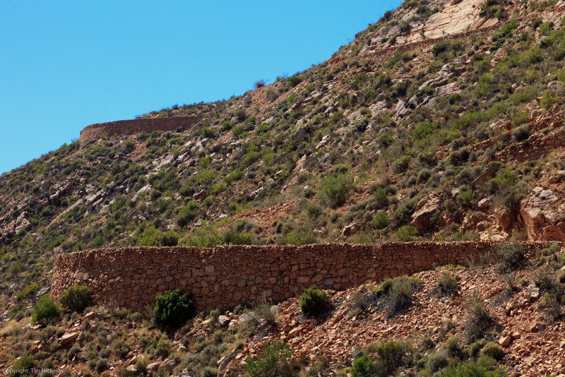 Zigzag engineering of Thomas Bain, along the edge of the Swartberg pass