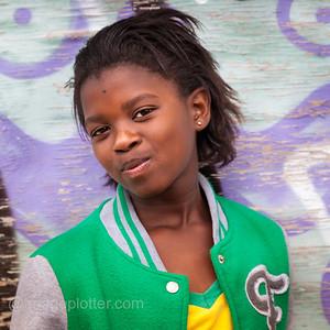 Portrait of Smiling Girl,  Imizamo Yethu Township (Mandela Park), Cape Town, South Africa