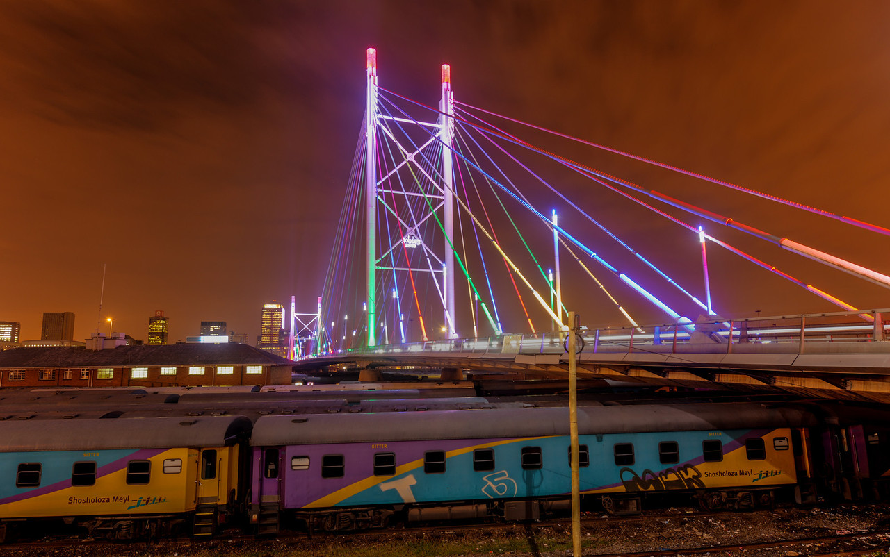 Nelson Mandela Bridge at Night