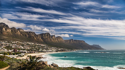 Camps Bay with Twelfe Apostles, Cape Peninsula, South Africa