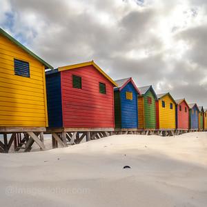 Beach Huts at Muizenberg, Cape Peninsula, South Africa