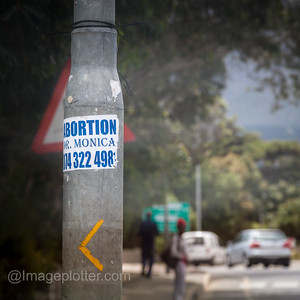 Sticker on Lamp Post, Near Imizamo Yethu Township, Cape Town, South Africa