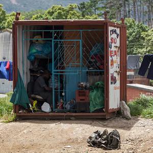 Shoe Repair Shop in a Box, Imizamo Yethu Township (Mandela Park), Cape Town, South Africa