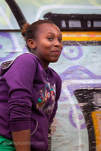 Girl Posing,   Imizamo Yethu (Mandela Park), Cape Town, South Africa
