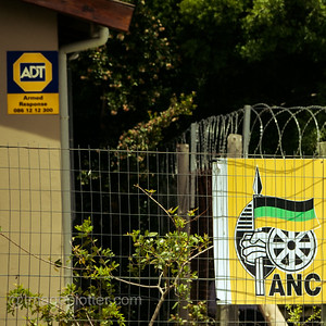 Local ANC Office with High Security Fencing and Alarm, Imizamo Yethu Township (Mandela Park), Cape Town, South Africa