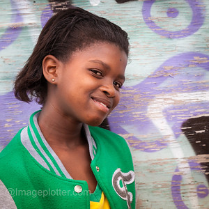 Portrait of Smiling Girl, Imizamo Yethu Township (Mandela Park), Cape Town, South Africa