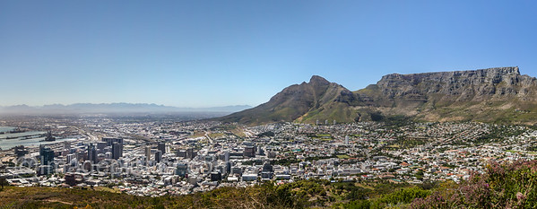 Cape Town Panorama with Table Mountain, Cape Town, South Africa