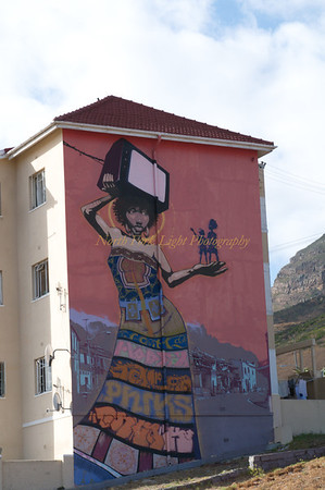Mural depicting the plight of the locals