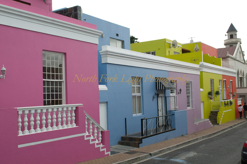 Colorful houses as part of the artifacts of apartheid. This neighborhood was segregated.