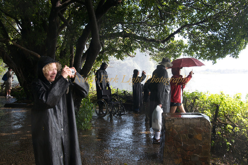 Victoria Falls creates its own weather. Wet!