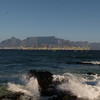 View of Table Mountain and Capetown from Robbin Island
