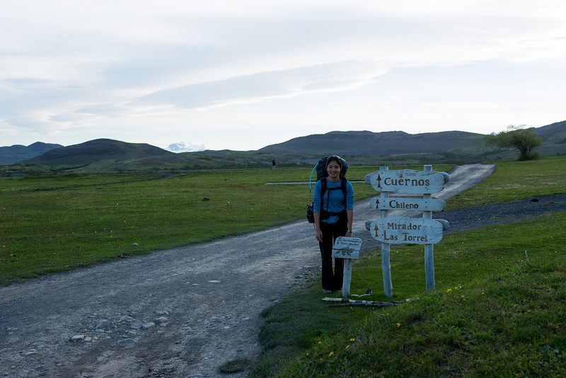 After arriving at Torres Del Paine at 5PM, we started for the first campsite.