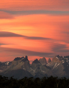 Sunset over Cuernos del Paine