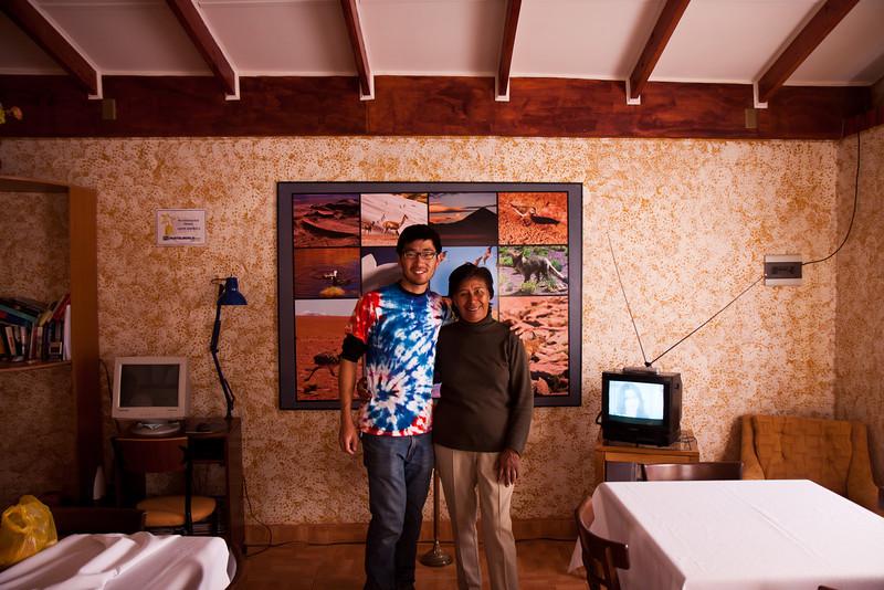 Our amazing hostess/mother at Hostel Solor in San Pedro de Atacama.