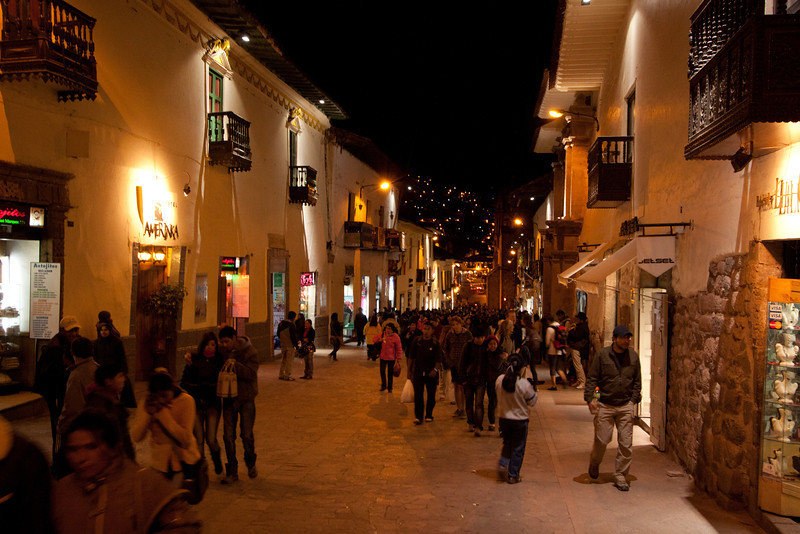 Cusco streets at night