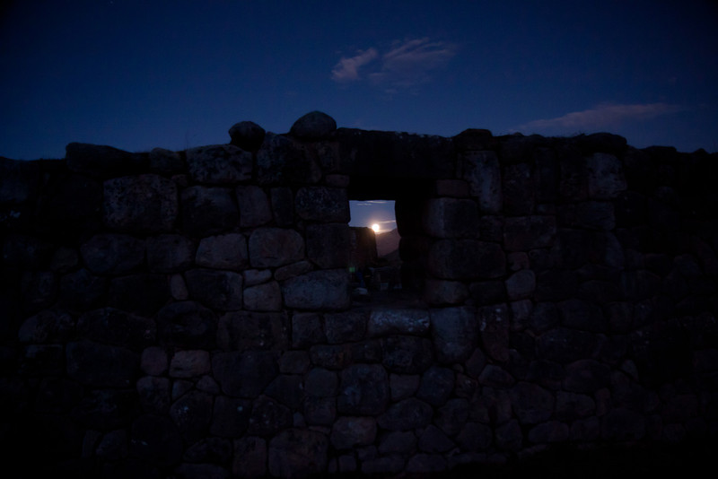 Moonrise in the Sacred Valley.