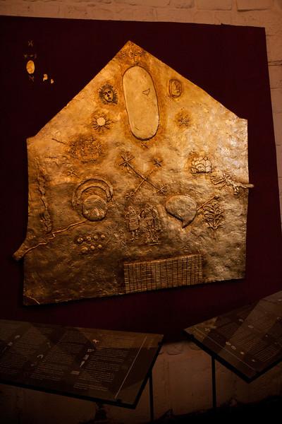 Incan religion. In gold.