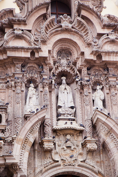 The intricate facade of Catedral San Francisco