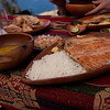 Rice, trout, and vegetable soup (all from the island and Lake Titicaca!)