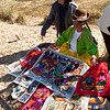 Hand-made tapestries (Lake Titicaca)
