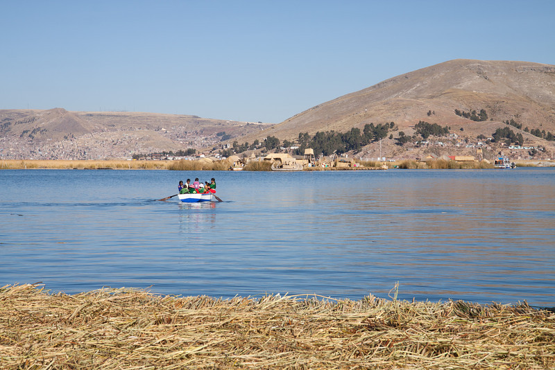 Kids going to school! (floating islands on Lake Titicaca)