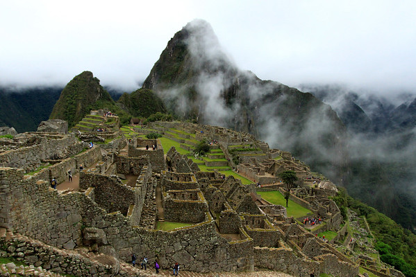 Machu Picchu in the rain