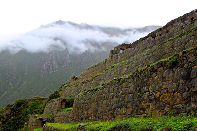 Ollantaytambo in the rain Sacred Valley, Peru December 2012