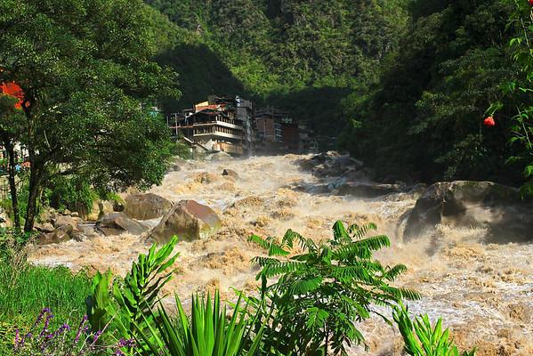 Fierce river in Agua Calientes
