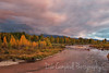 Awesome evening colors at Gros Ventre River Grand Teton National Park