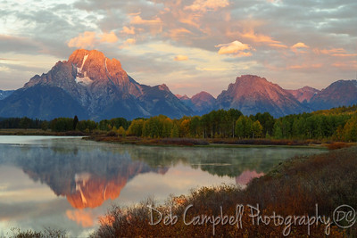 Oxbow Bend in Autumn Sunrise Grand Teton National Park