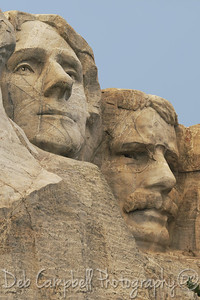 Jefferson and Roosevelt Closeup Mount Rushmore National Memorial Black Hills of South Dakota