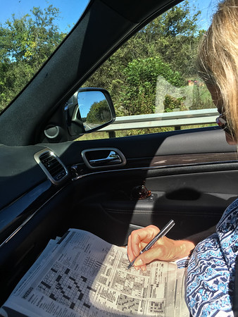 Denise - hard at work planning our trip to Memphis :-)
