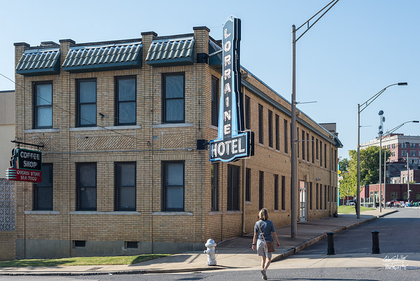 The Loraine Motel is the home of our National Civil Rights Museum. This is the back of that Motel.