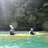 Michael and Robin - sea kayaking on Queen Charlotte Sound