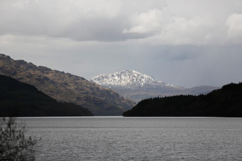 Mountain snow in Scotland