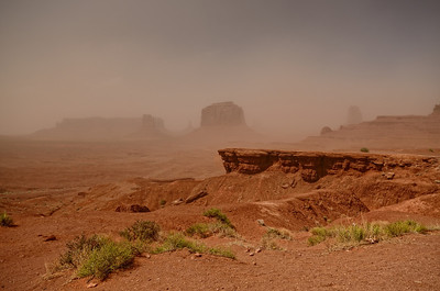 Sandstorm at John Ford's Point, Monument Valley