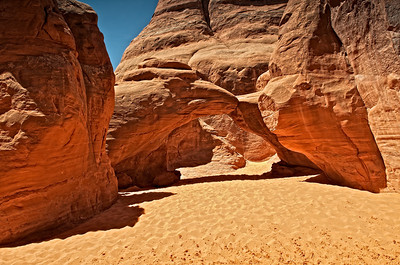 Sand Arch, Arches National Park.