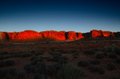 Sunrise at the Wall, Arches National Park.