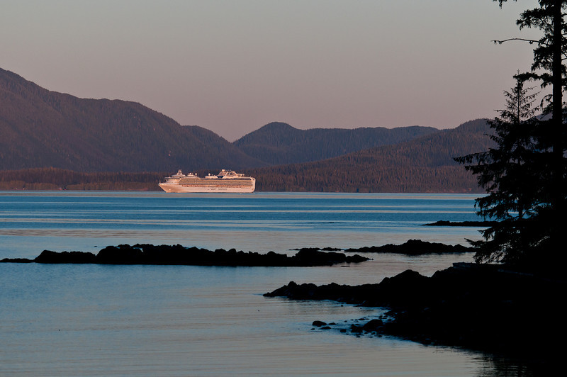 Cruise ship in the Clarence Strait, Inside Passage