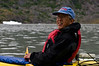 Dave kayaking on Mendenhall Lake